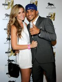 Victor Ortiz and his girlfriend Alexia Garland at Studio 54.