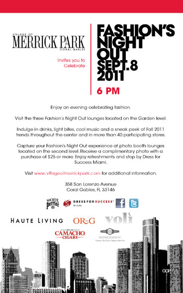 Tonight: Celebrate Fashion's Night Out with Haute Living at Merrick Park