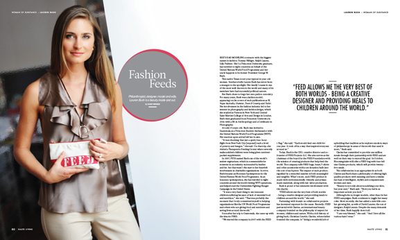 In this issue of Haute Living New York: former model, Princeton graduate and philanthropist Lauren Bush