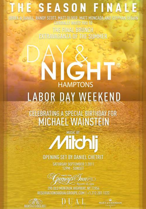 Don't Miss The Final Hamptons Day & Night Brunch Party Of The Season