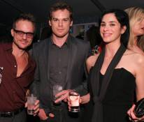 Randall Slavin, actor Michael C. Hall and actress Sarah Silverman