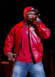 50 Cent performs at the Joint inside the Hard Rock Hotel.