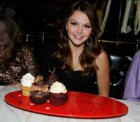 Actress Aimee Teegarden celebrates her birthday at Sugar Factory American Brasserie at Paris Las Vegas.