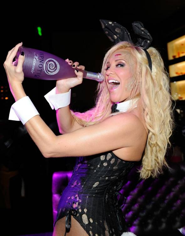 Haute Event: Bridget Marquardt Dresses as a Zombie Playboy Bunny at Gallery Nightclub