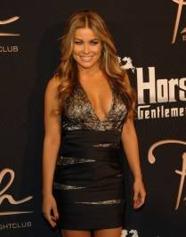 Carmen Electra poses on the red carpet at Crazy Horse III.
