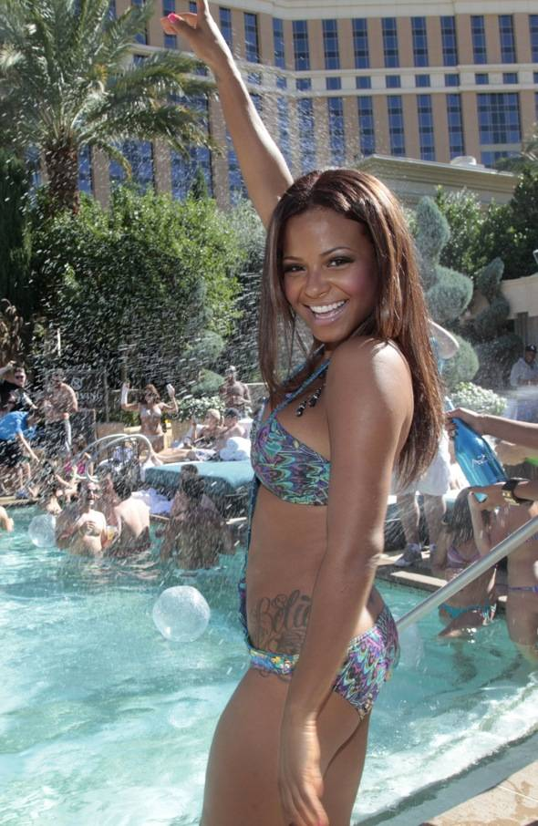 Haute Event: Christina Milian Celebrates the End of Summer at Azure Luxury Pool