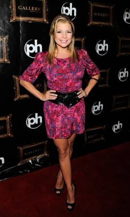 Dana Wilkey on the red carpet at Gallery Nightclub in Las Vegas