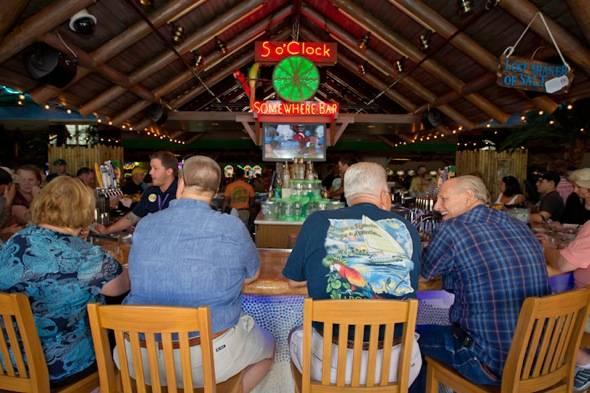 Guests enjoy the 5 O'Clock Somewhere Bar