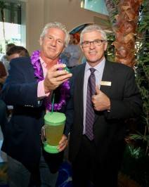 John Cohlan of Margaritaville Holdings with Mark Kelly, vice president of table games at Flamingo.