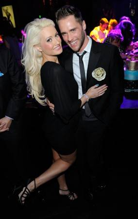 Josh Strickland celebrates his birthday alongside Holly Madison at Gallery Nightclub in Las Vegas.