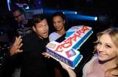 Kaskade with his cake to celebrate being voted America's Best DJ at Marquee.