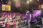 LL Cool J and the crowd during his performance at Chateau Nightclub & Gardens.