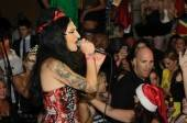 Eccentric rock star Mickey Avalon dresses up as Amy Winehouse and performs at Lavo.