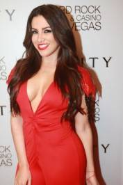 Nayer on the red carpet at Vanity Nightclub.