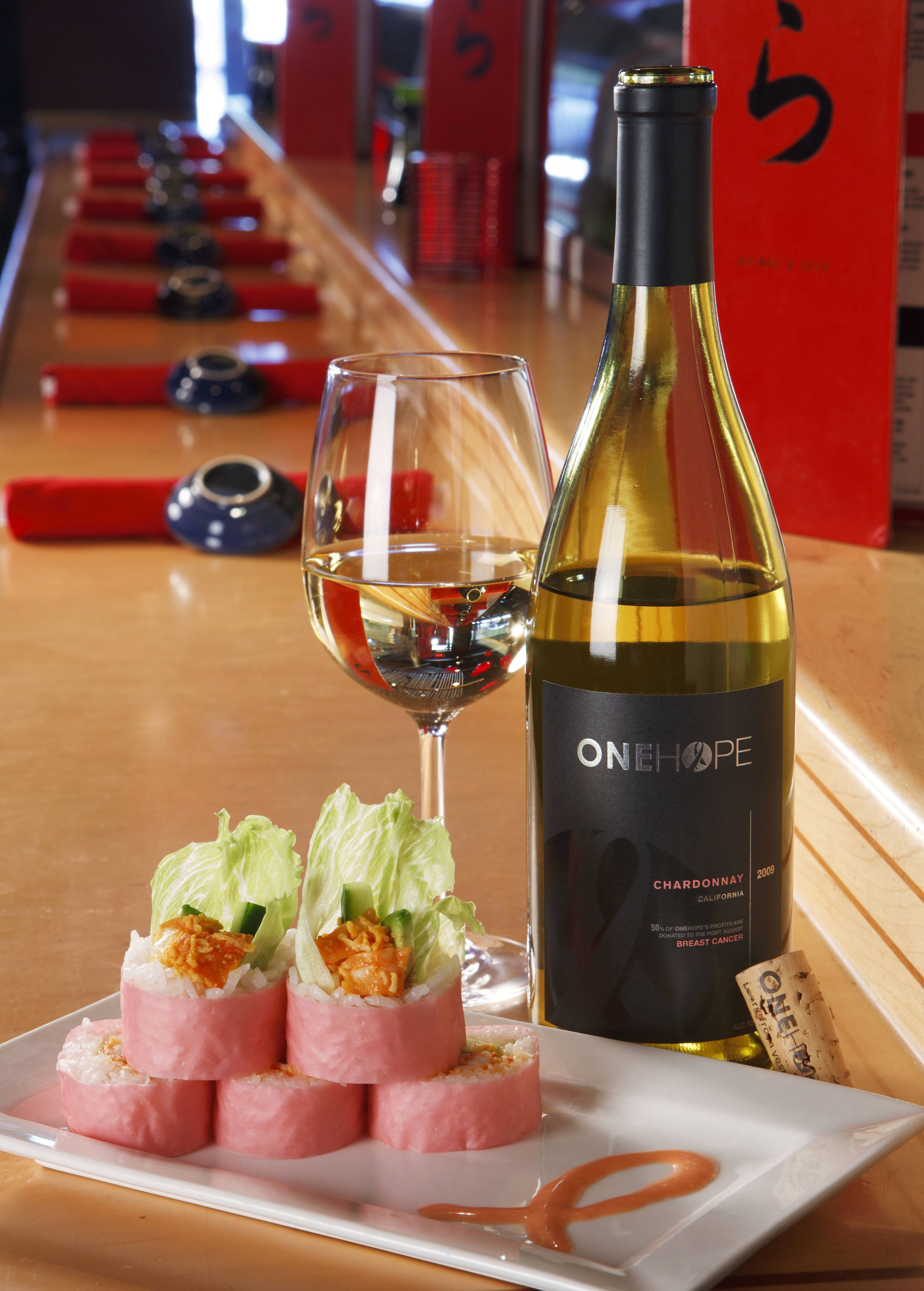 RA Sushi Goes Pink with a Wine and Sushi Special to Benefit the National Breast Cancer Foundation