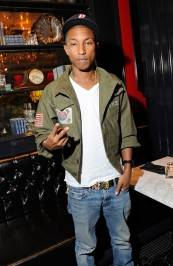 Pharrell dines at Sugar Factory American Brasserie at Paris Las Vegas.