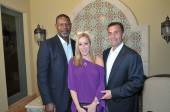 : Actor Dennis Haysbert with Valerie Zucker, CEO & Founder of Zucker Public Relations and husband Michael Buckstein