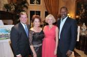 Doug Russell and Janet Davis, President & CEO of The Bougainvilla House, with actors Penelope Ann Miller and Dennis Haysbert