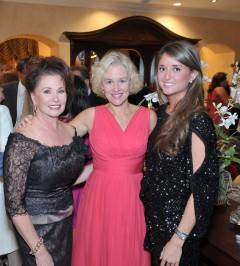 Janet Davis, President & CEO of The Bougainvilla House; actor Penelope Ann Miller; and goddaughter of Janet Davis, Brittany Knowlton