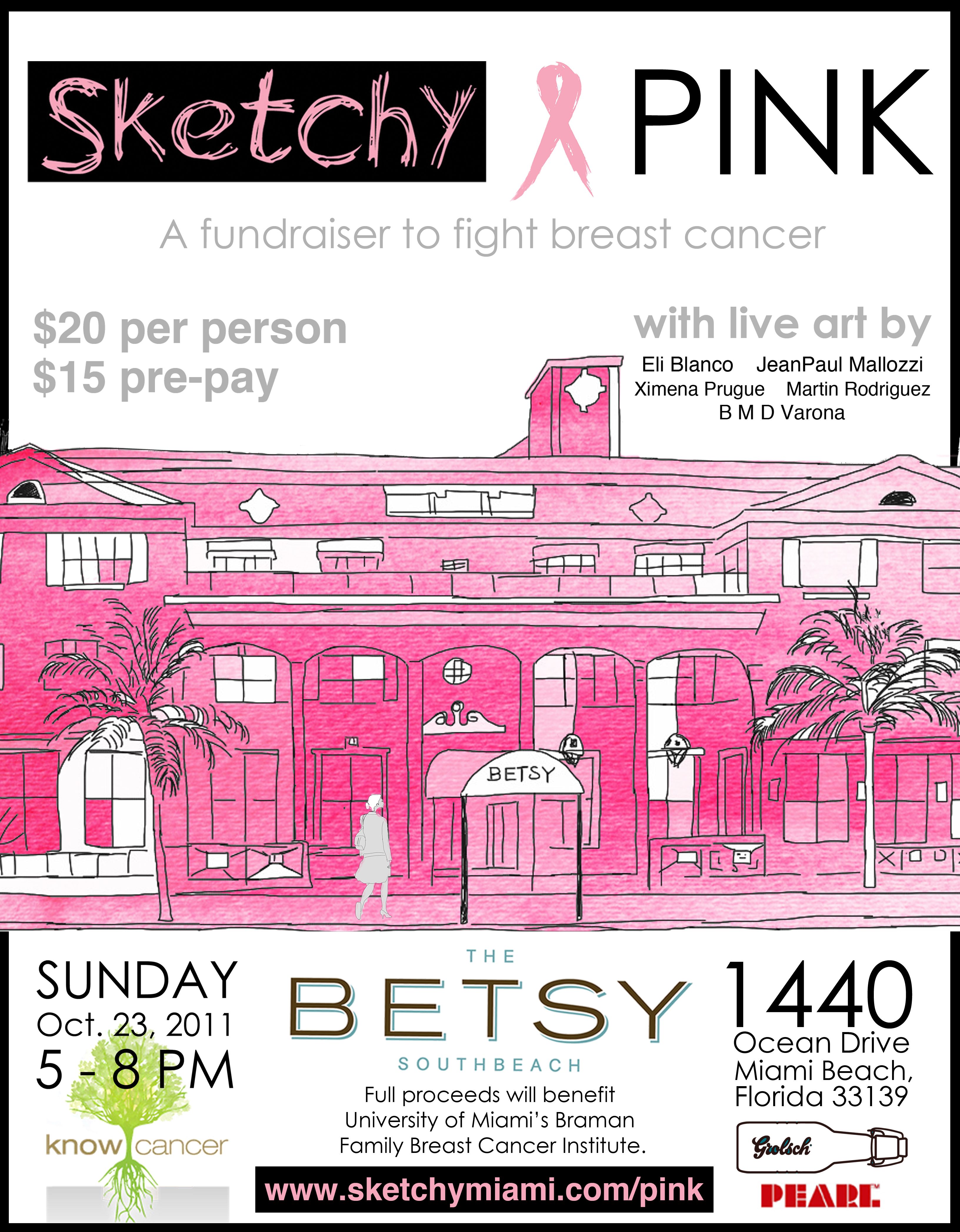 Sketchy Pink and Betsy South Beach Support the Pink Cause with a Fundraiser Sunday, October 23