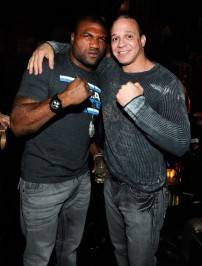 "Quinton ""Rampage"" Jackson and John Lewis, vice president of marketing and events for Diversified Entertainment Group, joined in the Halloween celebration at Gallery Nightclub."