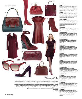 Fall's Haute Hue is the Cherry on Top of this Issue of Haute Living New York
