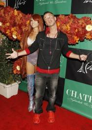 "Mike ""The Situation"" Sorrentino with Butterfly Girl on the Chateau Gardens red carpet."