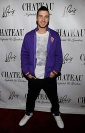 Vinny Guadagnino poses on the red carpet at Chateau Nightclub & Gardens.