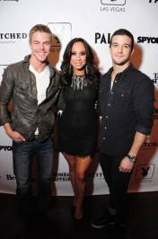 Derek Hough, Cheryl Burke and Mark Ballas were at Moon Nightclub last night.