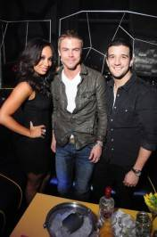 Cheryl Burke, Derek Hough and Mark Ballas at Moon Nightclub.