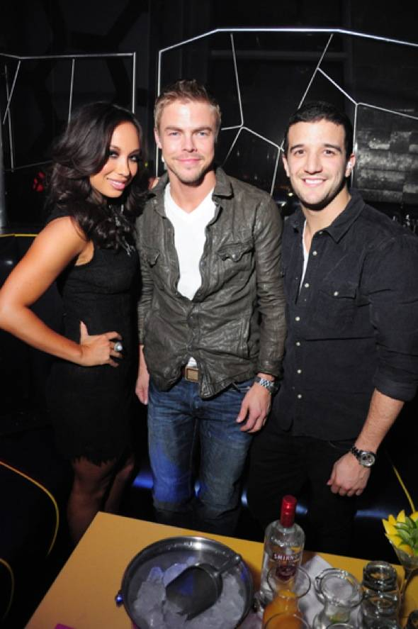 Haute Event: Cheryl Burke, Derek Hough and Mark Ballas Spotted at Moon Nightclub
