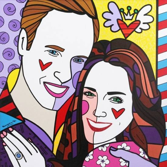 Haute 100 Update: Romero Britto Opens Royalty Exhibit in London