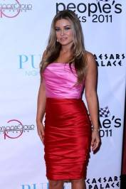 Carmen Electra walks the red carpet at Pure Nightclub.