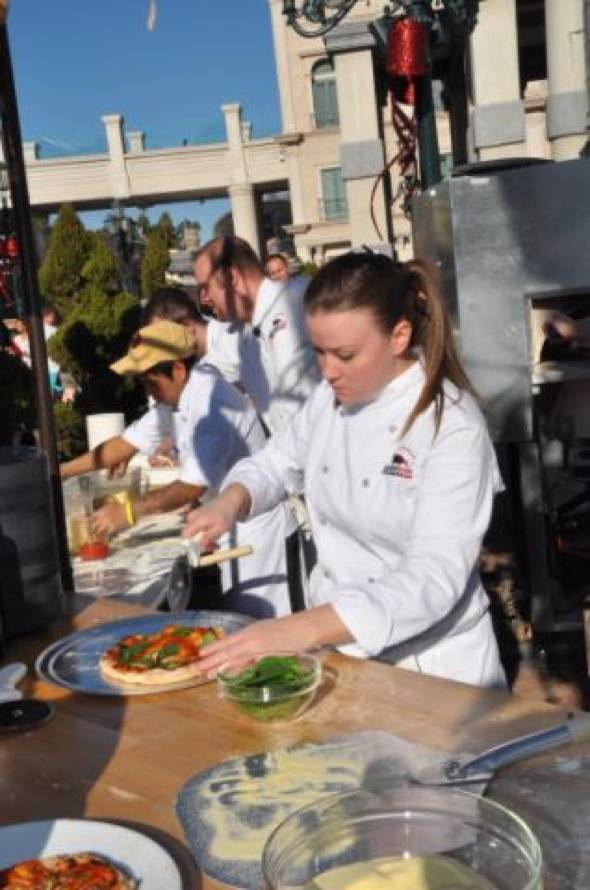 Haute Event: Mario Batali Serves Up Pizzas at the Venetian for Winter in Venice