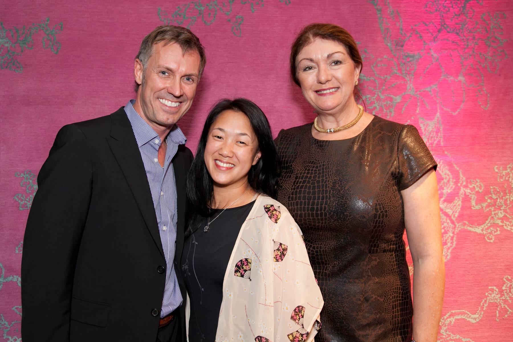Designer David Mast,  Kimi Nishikawa and Dwell President Michela O'Connor Abrams