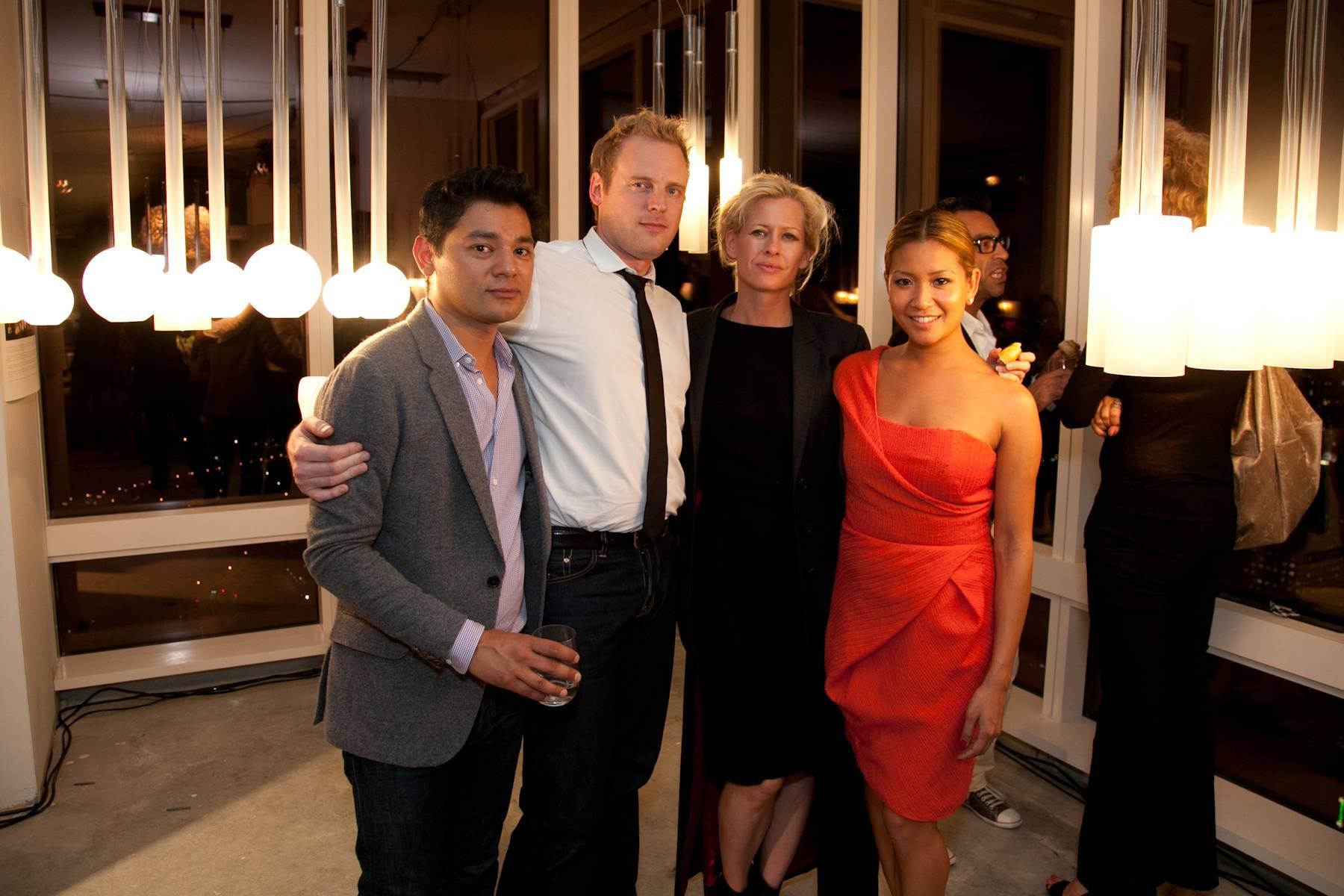 Designer Larissa Sand, JLSF Chair Lillian Phan and friends