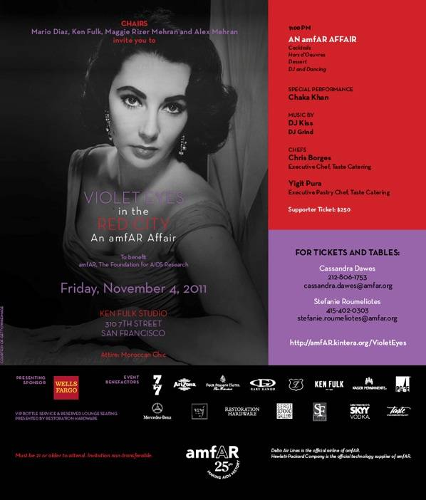 Haute Event Preview:  Violet Eyes In the Red City, An amfAR Affair