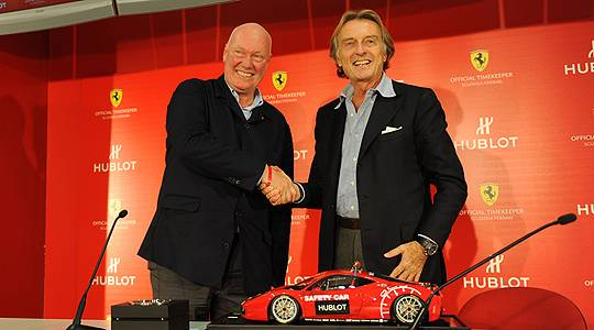 Hublot Becomes Official Timing Partner of Ferrari