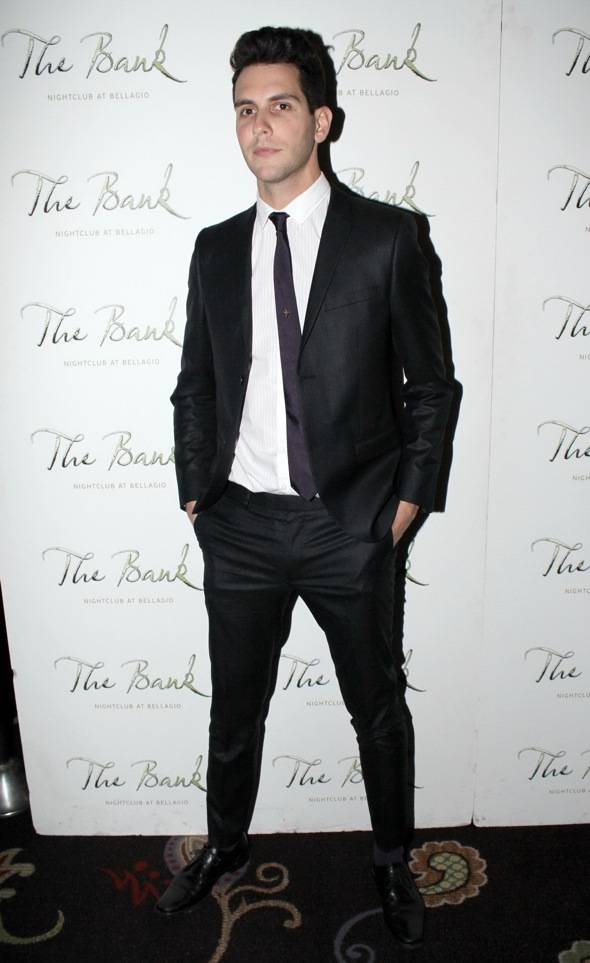 Haute Event: Gabe Saporta of Cobra Starship Performs at the Bank in Front of Bruno Mars