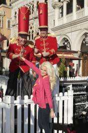Holly Madison spent her afternoon skating at the outdoor rink at the Venetian.