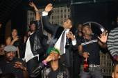 Trey Songz celebrates his birthday with buddies Ne-Yo and Kevin Hart at Lavo.