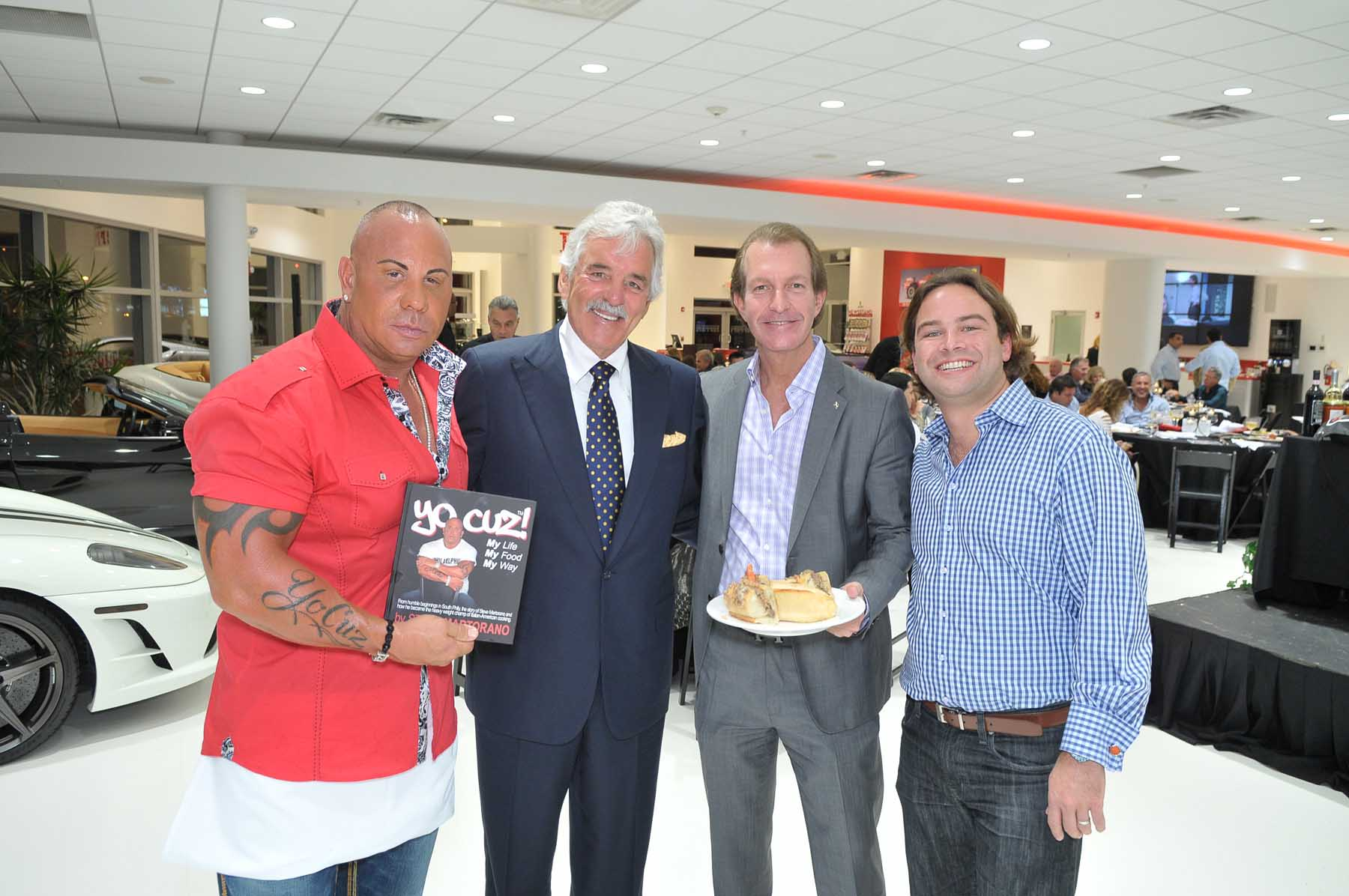 FERRARI-MASERATI OF FORT LAUDERDALE HOSTED AN EXCLUSIVE DINNER PARTY WITH ACTOR DENNIS FARINA AND CELEBRITY COOK STEVE MARTORANO