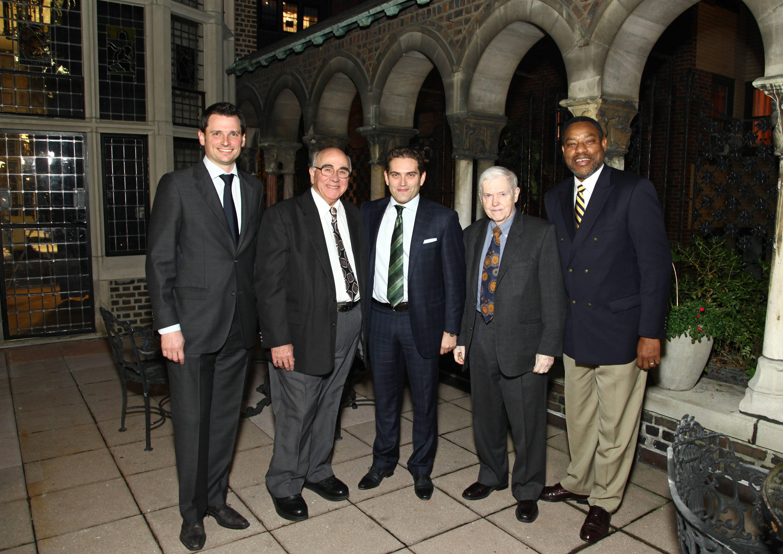 Panerai Director of R&D Frank Stalder, Dr. Anthony Aveni, Panerai North America President Rafael Alvarez, Dr. Owen Gingerich, Dr. Derrick Pitts