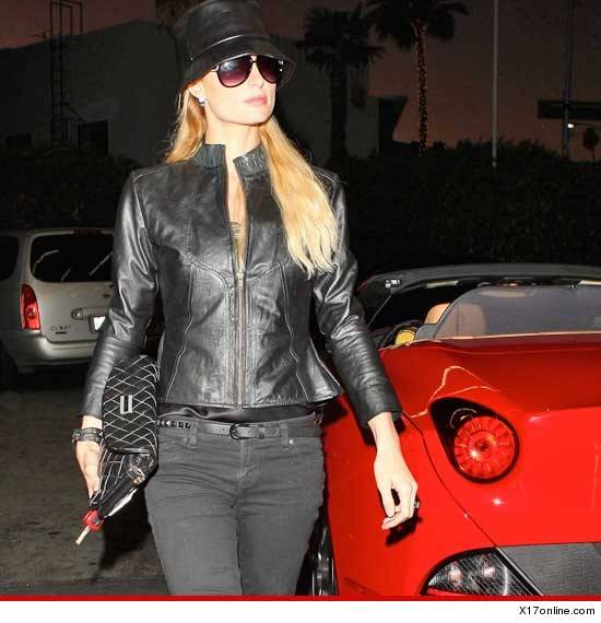Paris Hilton Buy new 2012 California Spyder Ferrari on Black Friday