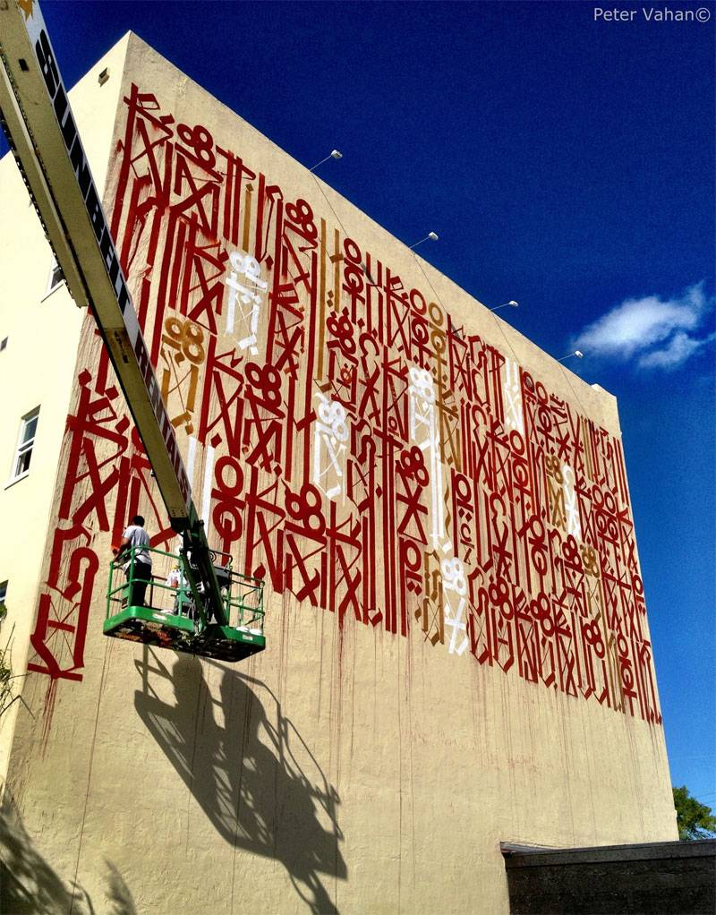 RETNA Paints 'Tribute' Wall on the Wynwood Arts Complex for the 5th Anniversary of Primary Flight, Miami