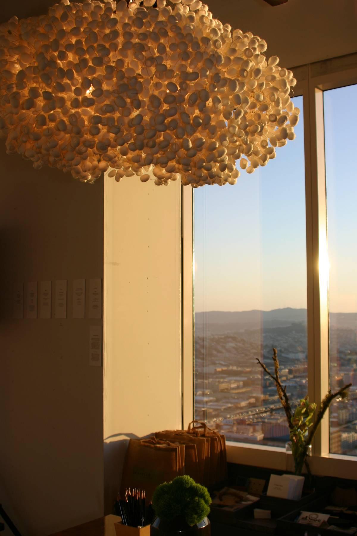 Silk Cocoon Light by Barbara Scavullo