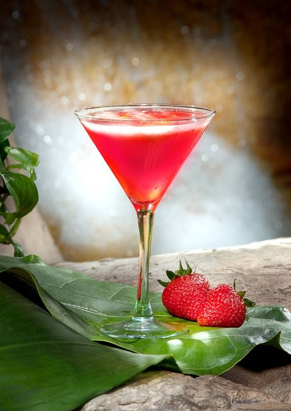 Sip on the refreshing Strawberry Fields at cocktail bars at the Mirage.