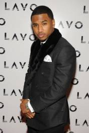 Trey Songz walks the red carpet at Lavo.
