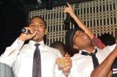 Trey Songz and Ne-Yo sang together on stage at Lavo.