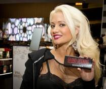 Holly Madison does a little shopping at the new Sephora that opened Friday at the Forum Shops at Caesars.